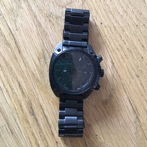 DIesel Men's Black Metal Watch